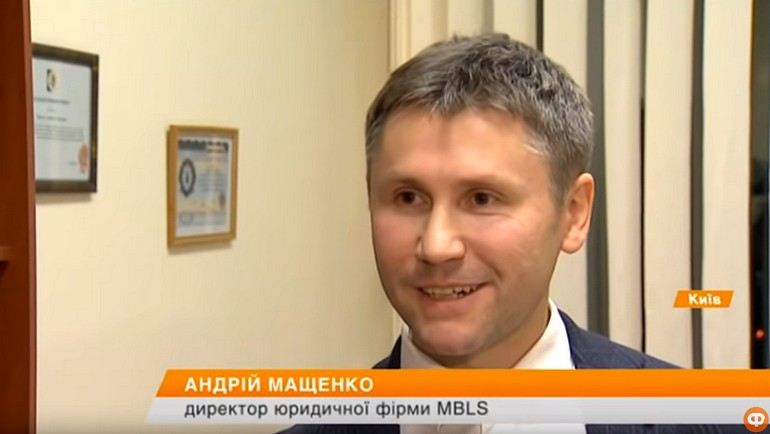 Andrii Mashchenko comments for ICTV channel - screenshot